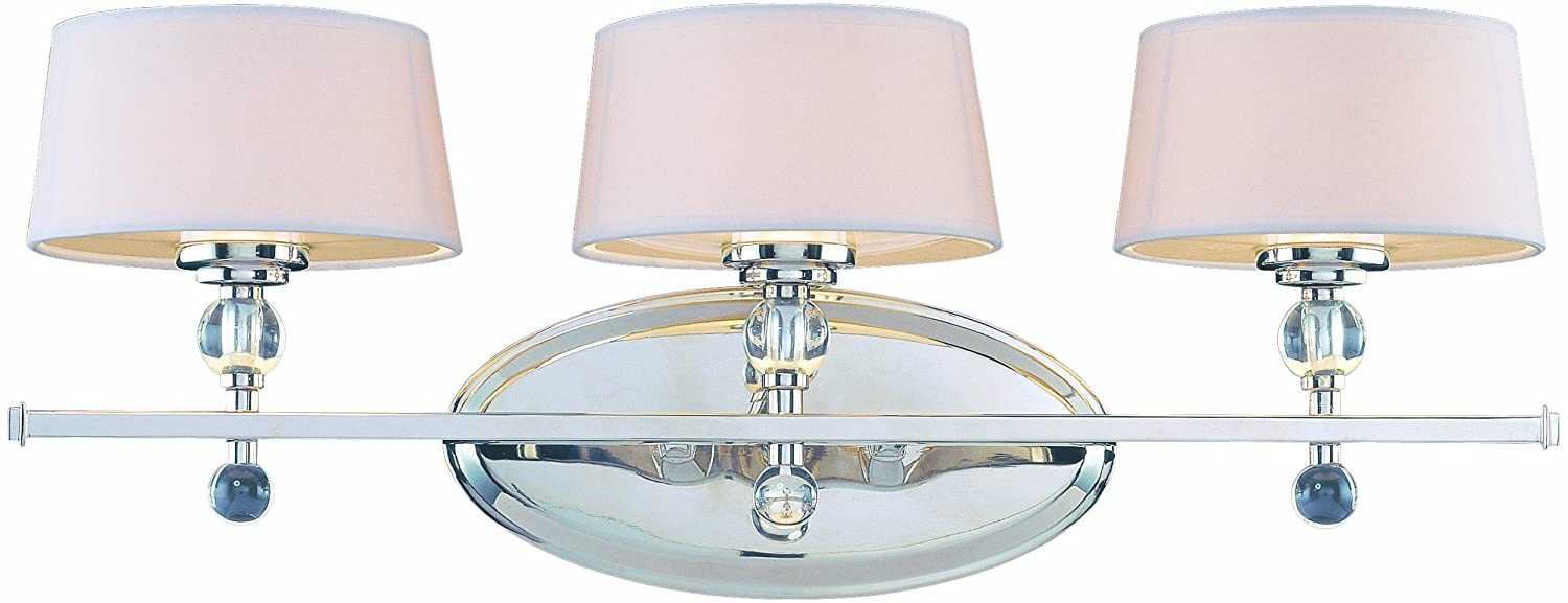 Savoy House 8 1041 3 109 Murren 3 Light Vanity Bar In Polished Nickel    Vanity Lighting Fixtures   Amazon.com