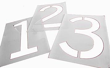 parking lot stencils 12 inch number set