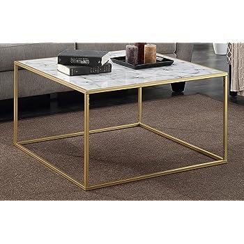 Amazoncom Convenience Concepts Gold Coast Faux Marble Coffee Table - Fake marble coffee table