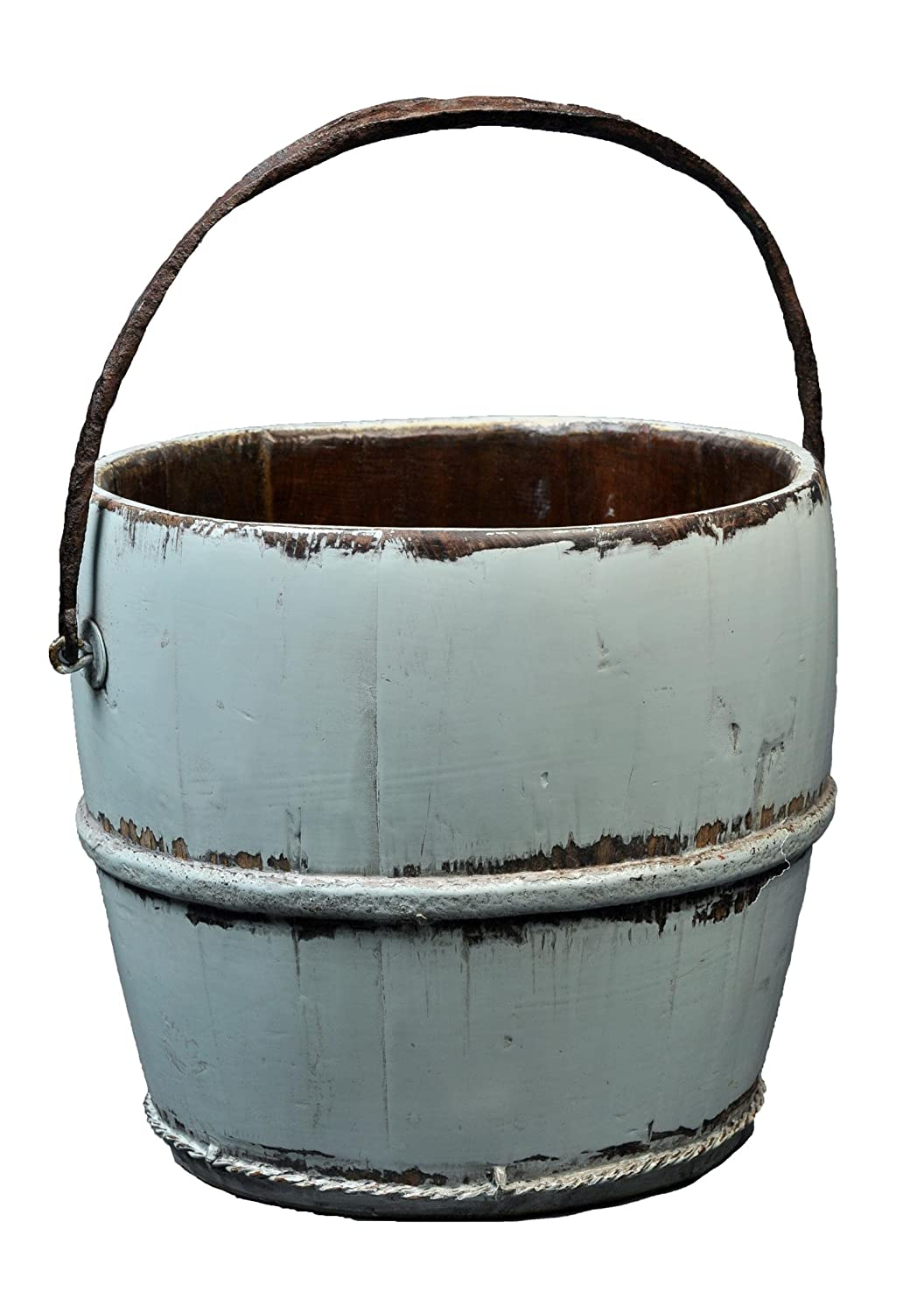 Amazon.com: Antique Revival Wooden Kitchen Water Bucket, Aqua: Home ...