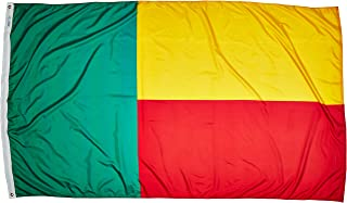product image for Annin Flagmakers Model 192123 Benin Flag Nylon SolarGuard NYL-Glo, 5x8 ft, 100% Made in USA to Official United Nations Design Specifications