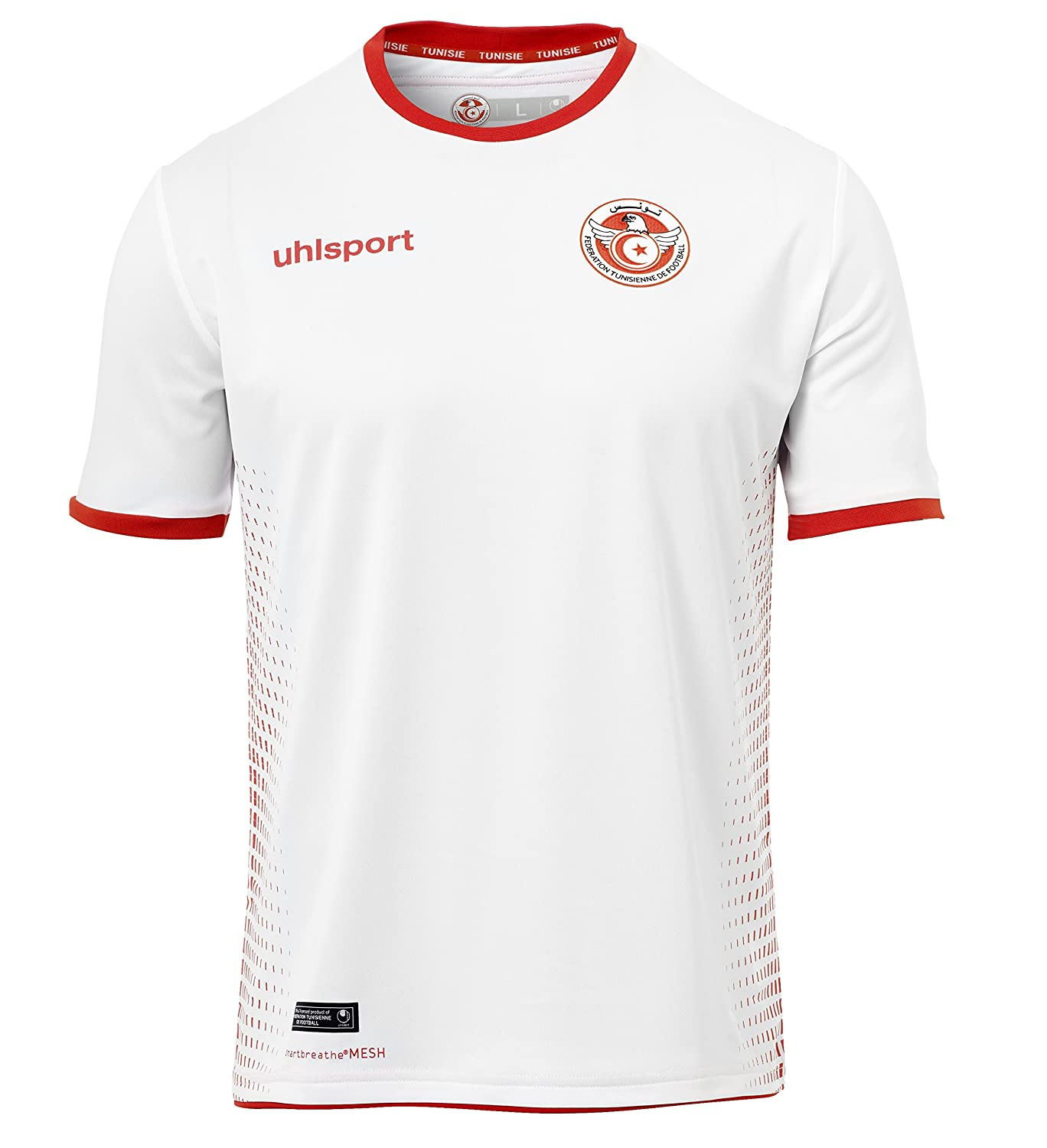 2018-2019 Tunisia Home Uhlsport Football Shirt B077SJHQYP Medium Adults 38-40