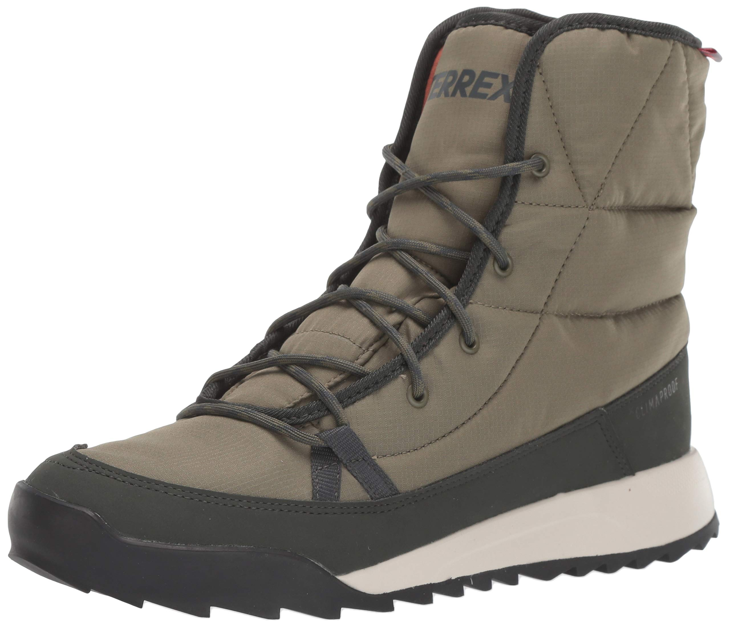 adidas outdoor Women's Terrex Choleah Padded CP Snow Boot, RAW Khaki/Legend Earth/SEMI Coral, 12 M US by adidas outdoor