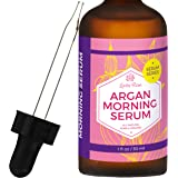 Argan Morning Serum by Leven Rose, 100% Pure Organic Natural - Brightens Complexion Naturally Stimulates Collagen and Elastin Reduces Fine Lines and Wrinkles 1 oz