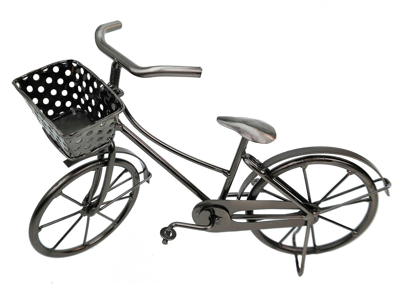 Amazon De Deko Fahrrad Mit Korb Aus Metall Dekoration Geldgeschenk Bike