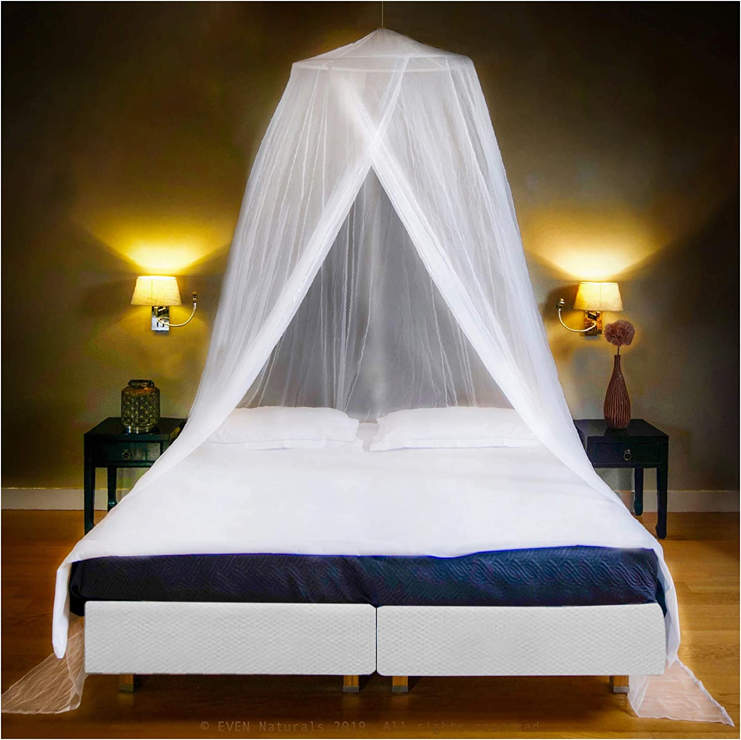 Queen to Super King 2 Double EVEN Naturals MOSQUITO NET for Bed Gift for Twin