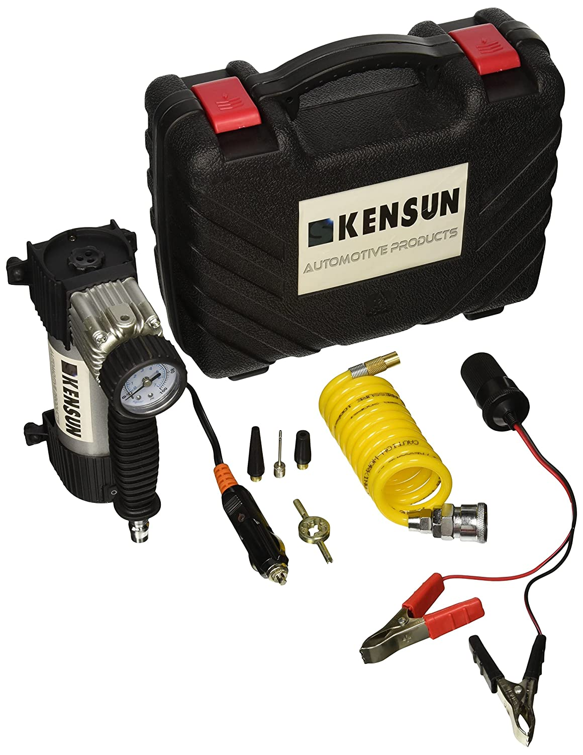 Kensun Portable Travel Multi-Use Air Pump Compressor/Inflator Kit