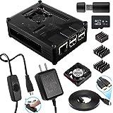 Raspberry Pi 3 ケース ラズベリー・パイ3 Model B ケース +電源+HDMI ケーブル+ファン+ヒートシンク Black ケース ラズパイ3 2 Model Bとも対応(Raspberry Pi 3 Model B 本体含まりません)