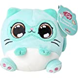 """Kitten Catfé Meowble Super Soft Scented Plush - Mint Siamese Cat - """"Meowberry Scented"""" (Strawberry) 4"""" Round Kitten Ball Plus"""