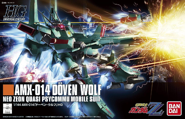 Bandai Hobby HGUC Doven Wolf Bluefin Distribution Toys BAN189180 1//144 Scale ZZ Version Model Kit