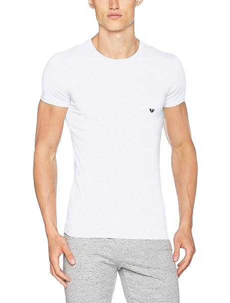 Emporio Armani CC729 111035_00010, Camiseta Interior para Hombre, Blanco (White), Small