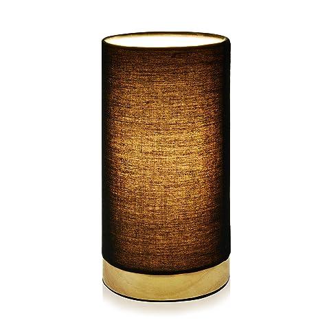 Viugreum Lámpara de mesa Moderna,Lámpara decorativa,Lámpara de escritorio para Estudio,Dormitorio,Salón,mesilla de noche-Negro,sin bombilla