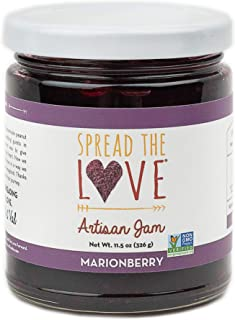product image for Spread The Love MARIONBERRY Artisan Jam, 11.5 Ounce, All Natural, Vegan, No Preservatives, GMO and Gluten Free, Made in Oregon