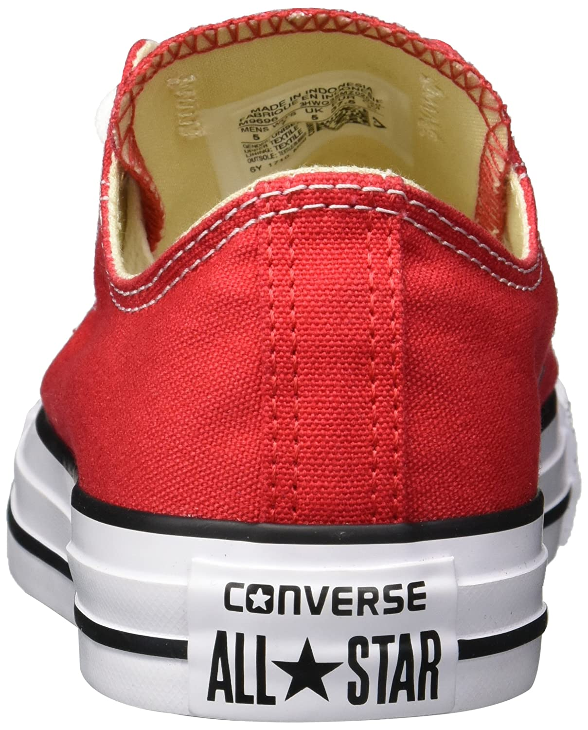Amazon.com | Converse Chuck Taylor All Star Ox Women US 5.5 Red Fashion Sneakers | Fashion Sneakers