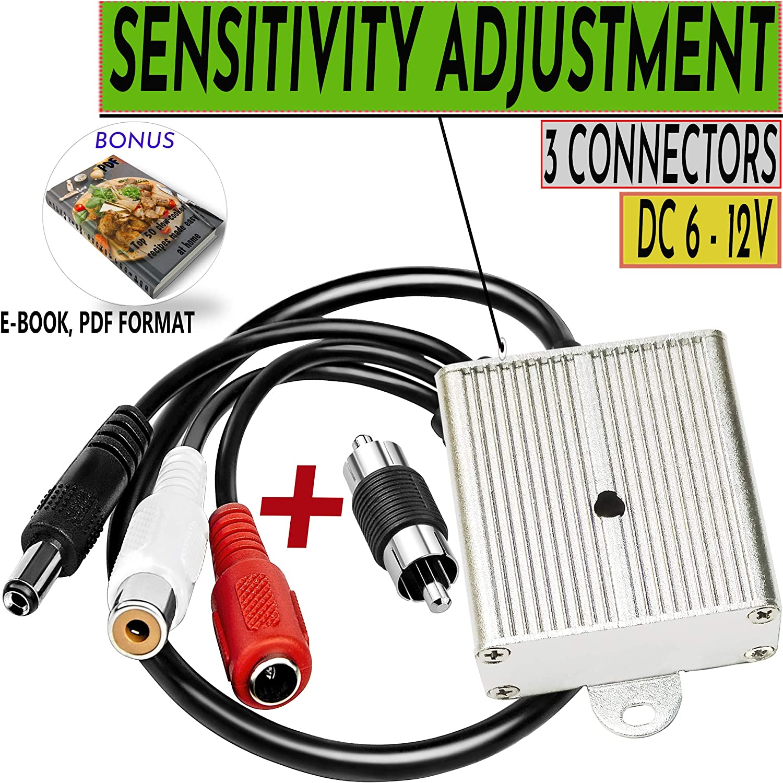 5x High Sensitive DC Audio Mini Mic Microphone for CCTV Security Camera DVR Fast