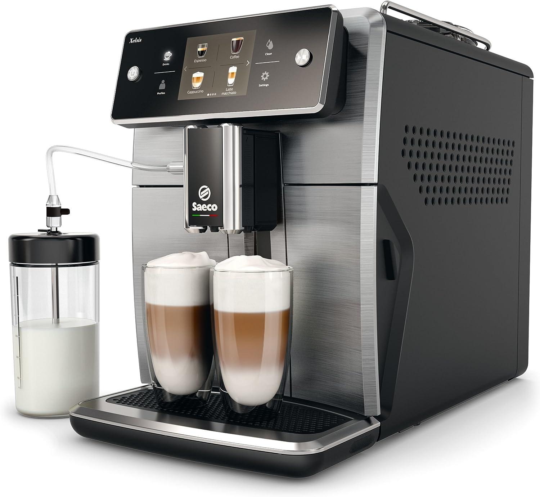 Saeco Xelsis SM7684/00 - Cafetera (Independiente, Máquina espresso, 1,7 L, Granos de café, De café molido, Molinillo integrado, Negro, Titanio): Amazon.es: Hogar