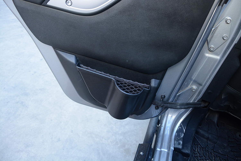 OMU ZGAUTO Door Storage Pockets Inserts Side Organizer Box for 2011-2017 Jeep Wrangler JK JKU,Black