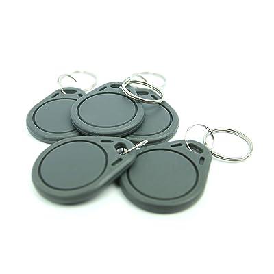 5 badges NFC Porte-clés ABS | NFC Porte-Clés | 168 Byte | gris Informatique