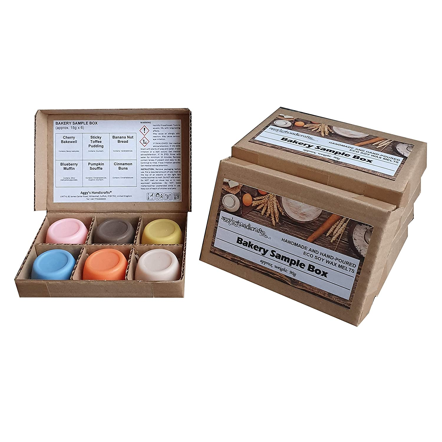 BAKERY Sample Box of Highly Scented Soy Wax Melts approx. 90g
