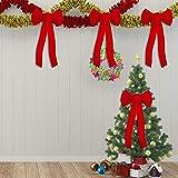 URATOT Red Velvet Christmas Bows Holiday