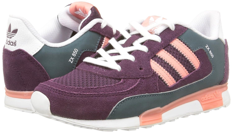 6cd71f22868 ... get adidas girls zx 850 k running shoes purple violett merlot f15 st  peach pink f15