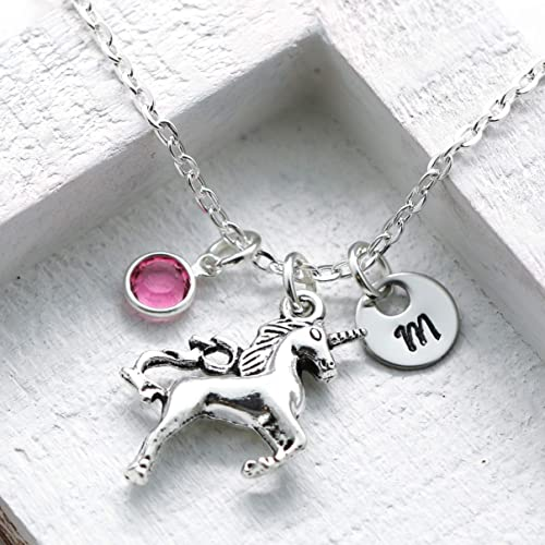 4b5676765e9c Amazon.com  Unicorn Necklace - Unicorn Jewelry for Girls - Unicorn ...