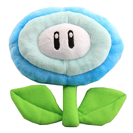 2pcs Super Mario Bros Fire Flower & Ice Flowe Plush Doll Figure Stuffed Toy Gift TV & Movie Character Toys