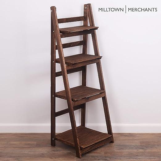Milltown Merchants - Estantería de escalera - Estantería rústica - Estantería inclinada para decoración rústica del hogar: Amazon.es: Juguetes y juegos
