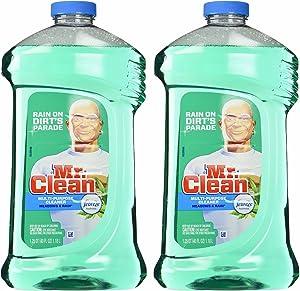 Mr. Clean Meadown & Rain Febreze Freshness Meadows & Rain Multi-Surface Cleaner 40 oz (2 Bottles), 80 Oz, Green, 2 Count