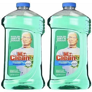 Mr. Clean Meadown Febreze Freshness Meadows & Rain Multi-Surface Cleaner 40 oz (2 Bottles), Pack of 2, Green