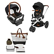 Quinny Rachel Zoe Jet Set Moodd Stroller Travel System with Rachel Zoe Diaper Bag
