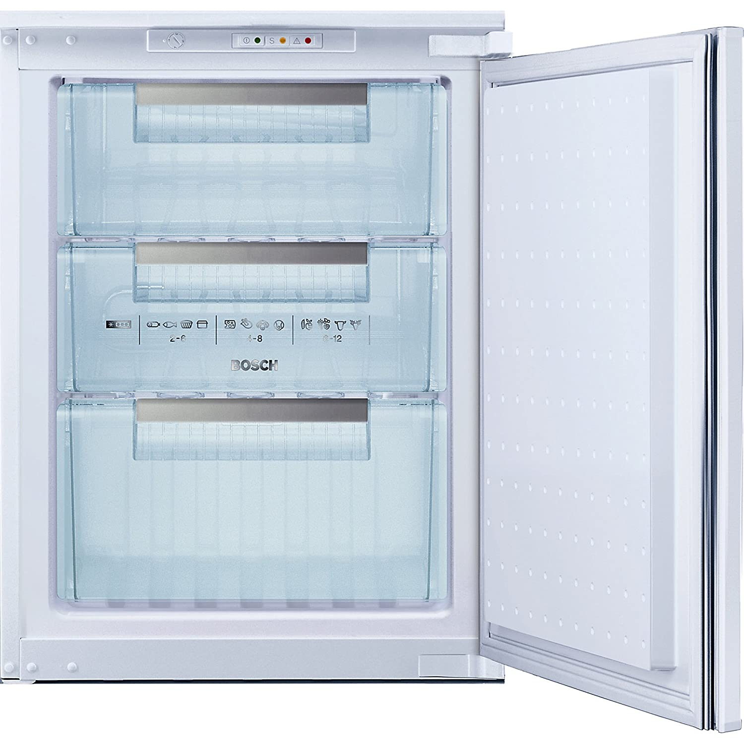 Bosch GID14A20 Upright Built-in White A+ 70L freezer - freezers (Built-in, Upright, A+, White, 4*, SN, N, ST)