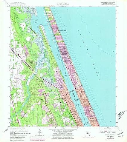 Amazon.com : YellowMaps Ormond Beach FL topo map, 1:24000 Scale, 7.5 ...
