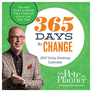 2017 365 Days to Change by Pete the Planner Daily Desktop Calendar