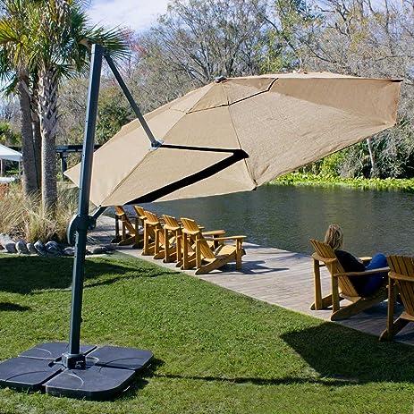 Coolaroo Cantilever Umbrella Round 12u0027 Mocha