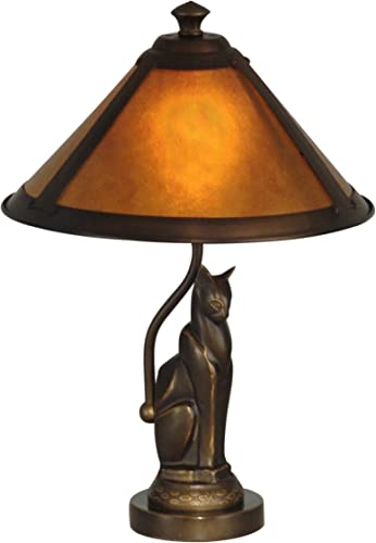 Dale Tiffany TA90197 Tiffany One Light Accent Table Lamp from Classic Mica Collection Dark Finish