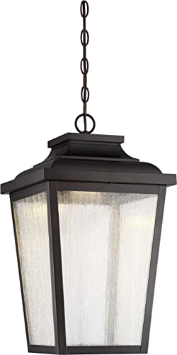 Minka Lavery Outdoor Pendant Lighting 72175-189-L Irvington Manor, 1-Light LED 13 Watts, Chelesa Bronze