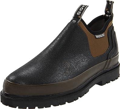 Bogs Men's Tillamook Bay Camo Slip On, Black, 7 D(M) US