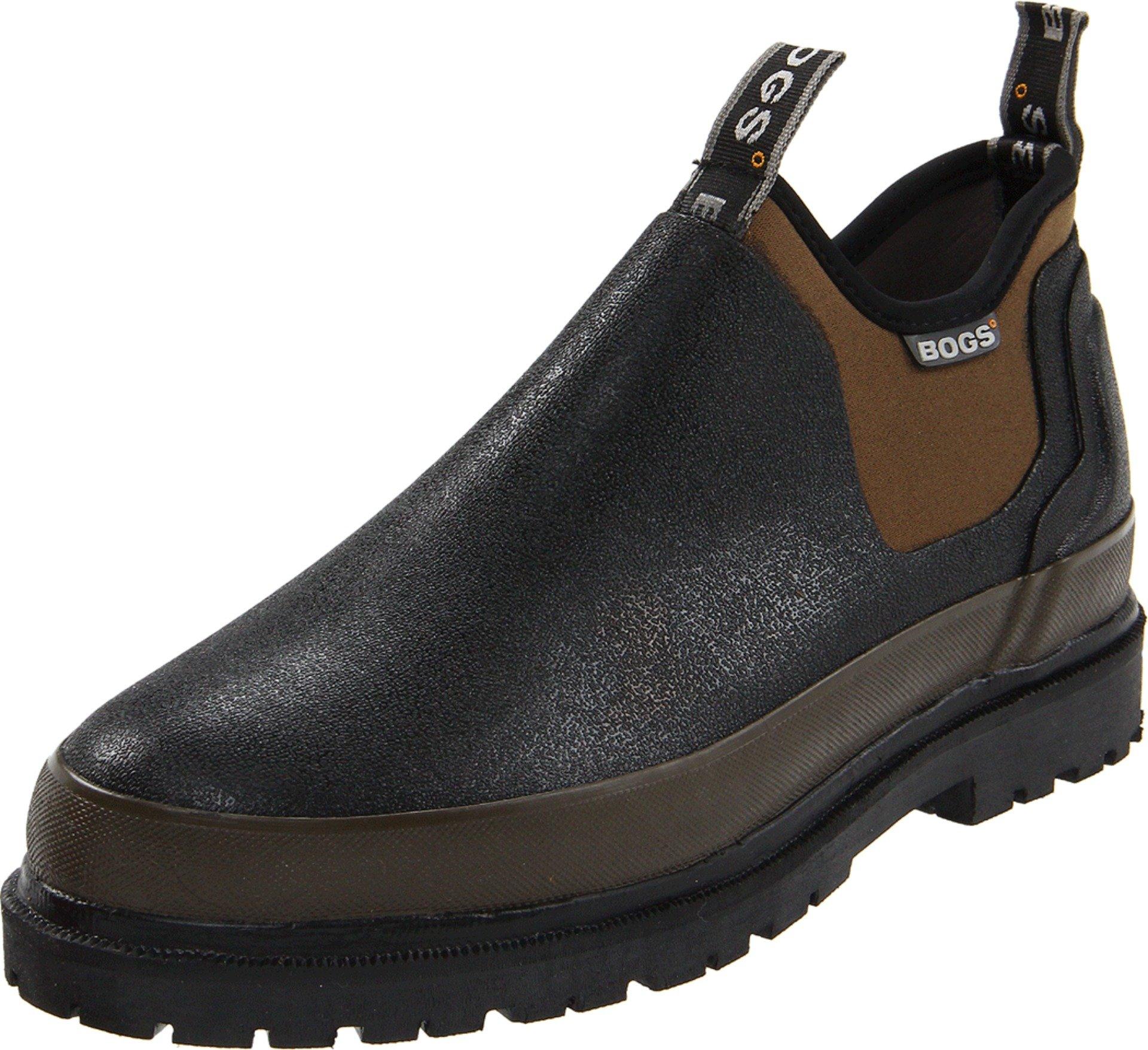 Bogs Men's Tillamook Bay Camo Slip On, Black, 12 D(M) US by Bogs