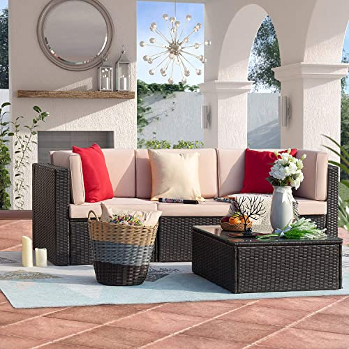 Homall 4 Pieces Patio Outdoor Furniture Set