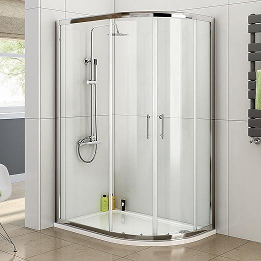 1000 x 800 mm diseño de cuadrante esquina para puerta cabina de mampara de ducha: iBathUK: Amazon.es: Hogar