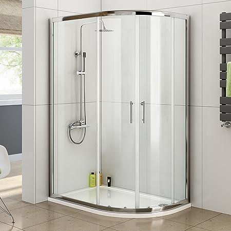Ibathuk 1200 X 800 Right Quadrant 6mm Sliding Glass Shower Enclosure