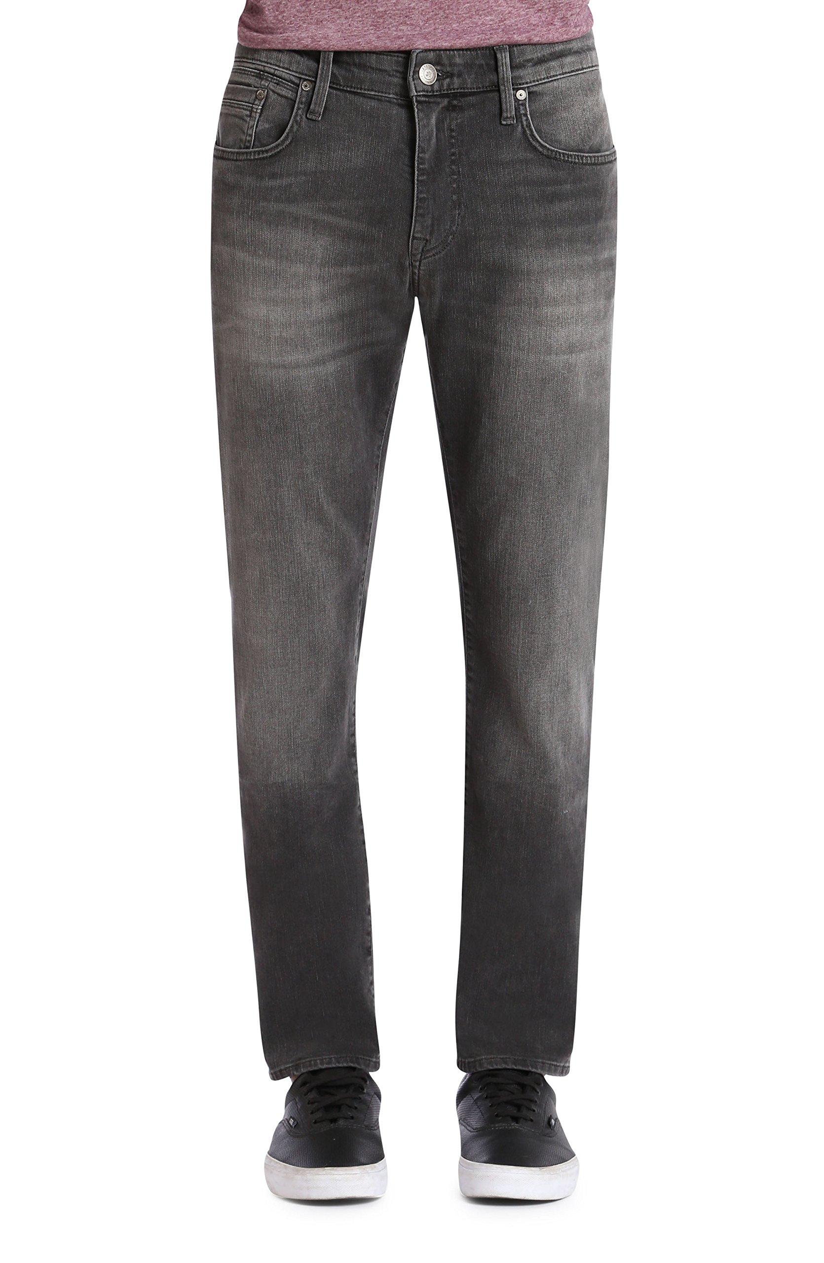 Mavi Men's Jake Regular-Rise Tapered Slim Fit Jeans, Grey Distressed Williamsburg, 28W X 30L by Mavi