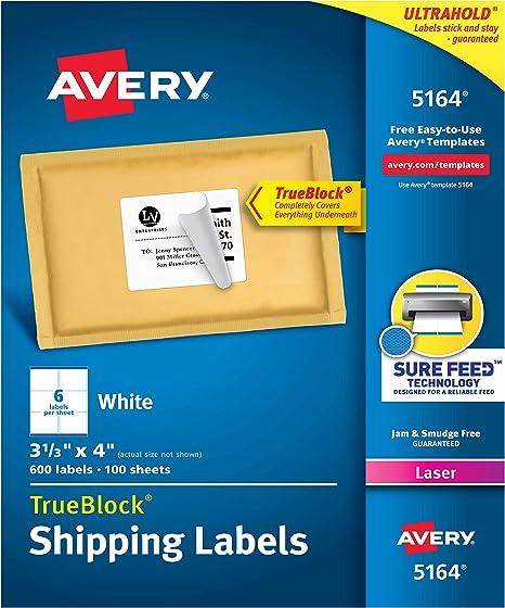 Amazon.com: Etiquetas de envío Avery para impresoras ...