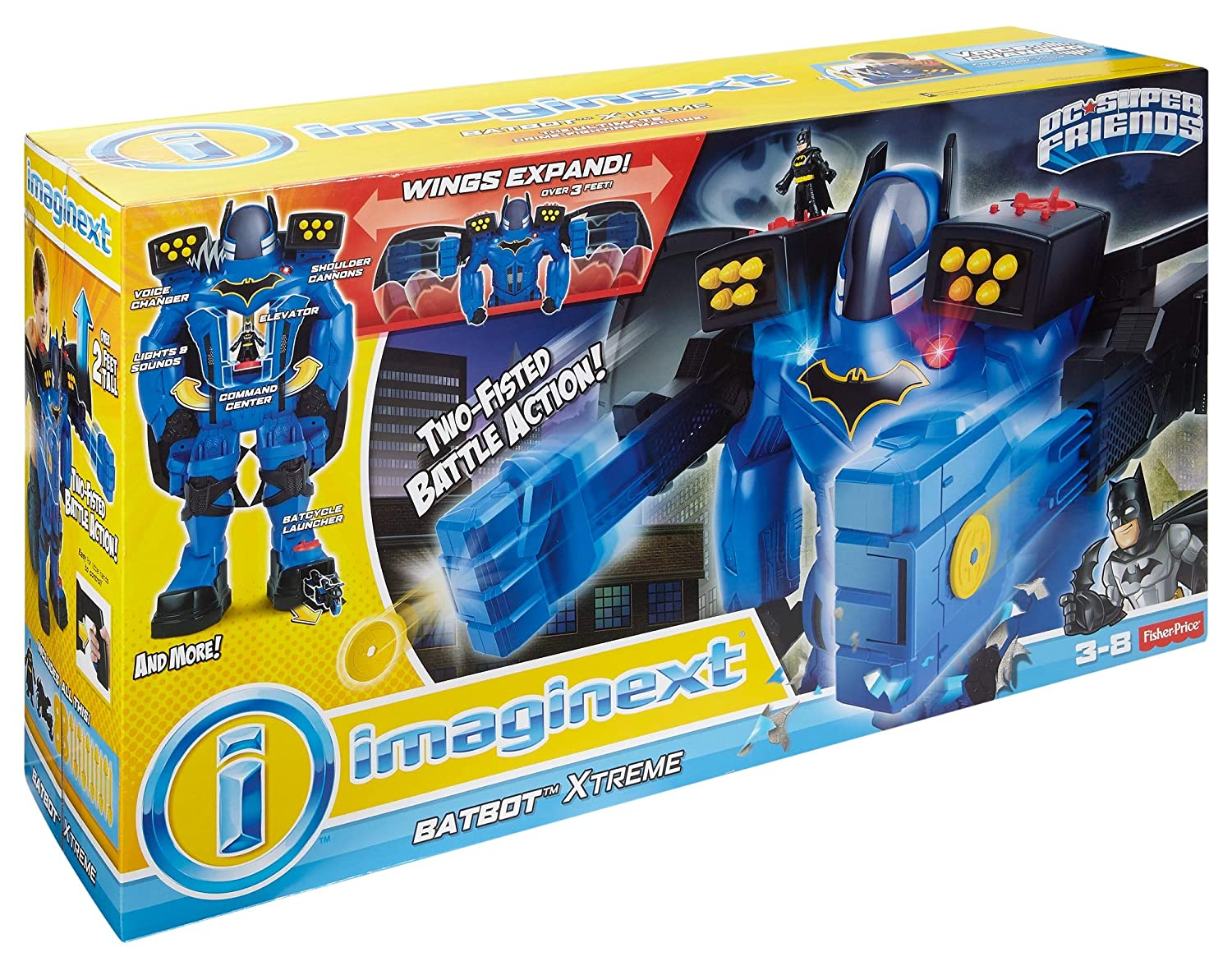 Replacement Batman Figure FGF37 Imaginext DC Super Friends Batbot Xtreme