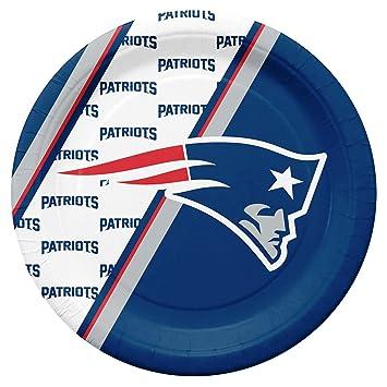NFL New England Patriots Disposable Paper Plates b1088e339f64