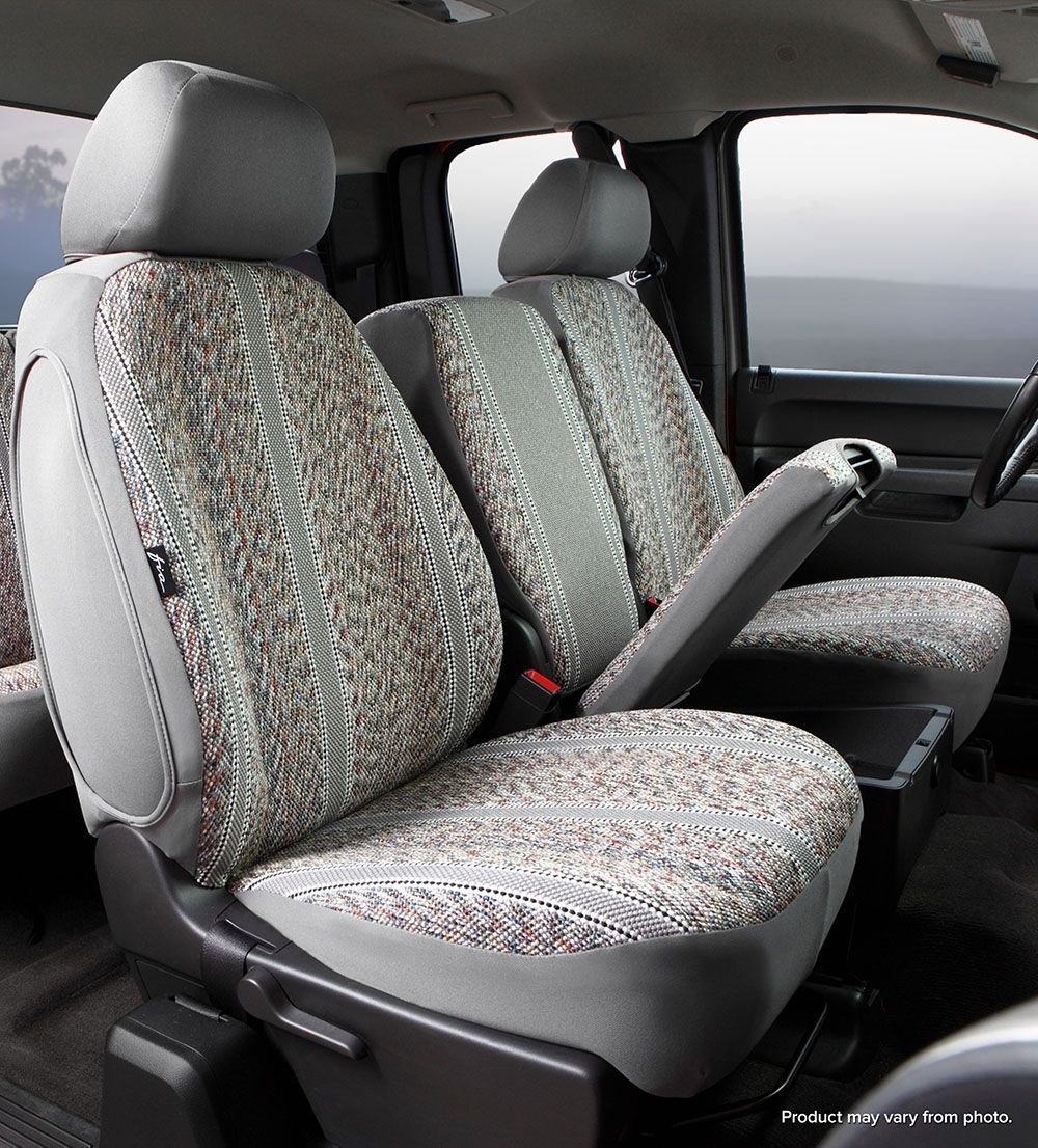Fia TR47-26 GRAY Custom Fit Front Seat Cover Bucket Seats Gray Saddle Blanket,