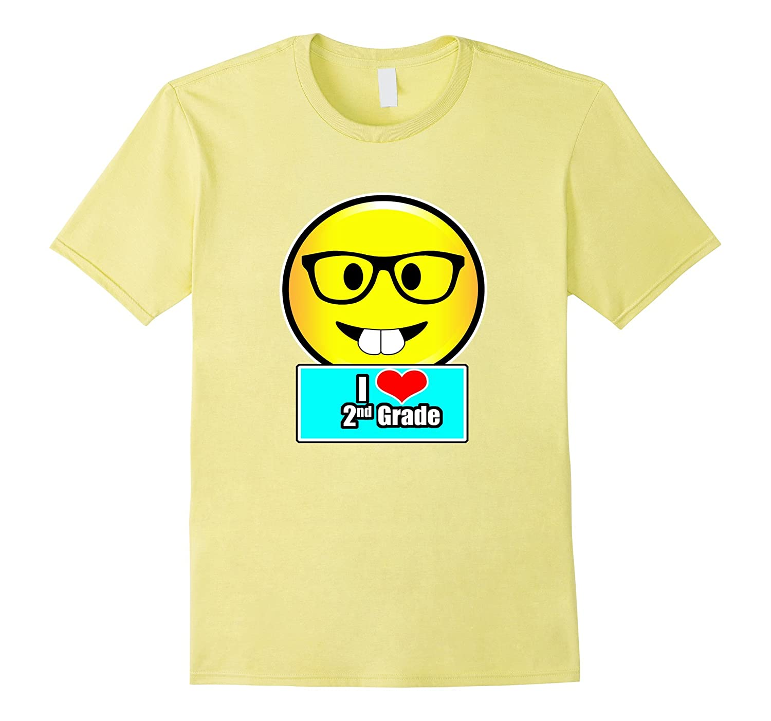 c5210c213 I Love 2nd Grade Emoji Kids or Teacher In Second Grade Shirt-PL ...