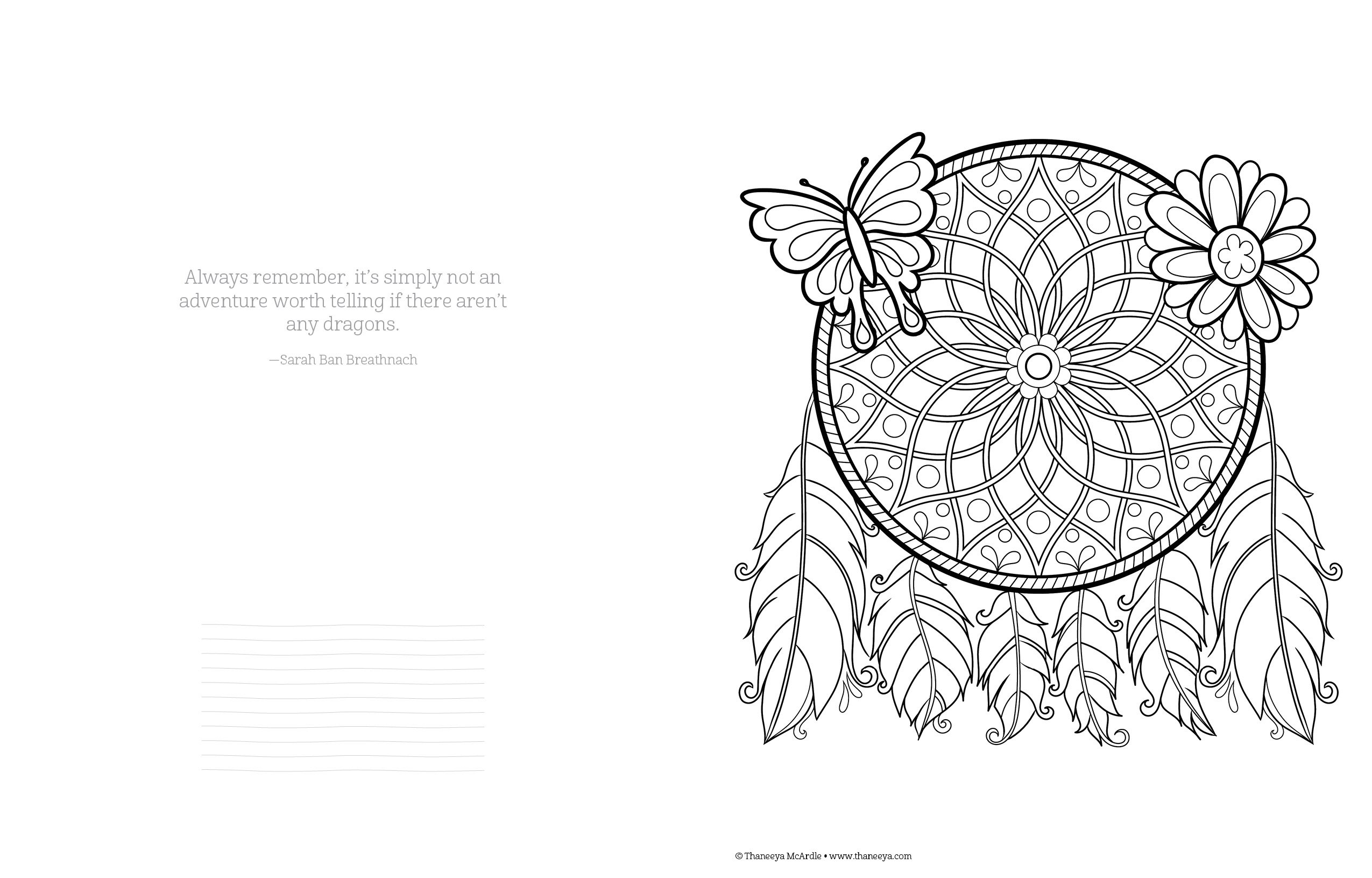 Amazon Free Spirit Coloring Book Is Fun Design Originals 0023863055321 Thaneeya Mcardle Books