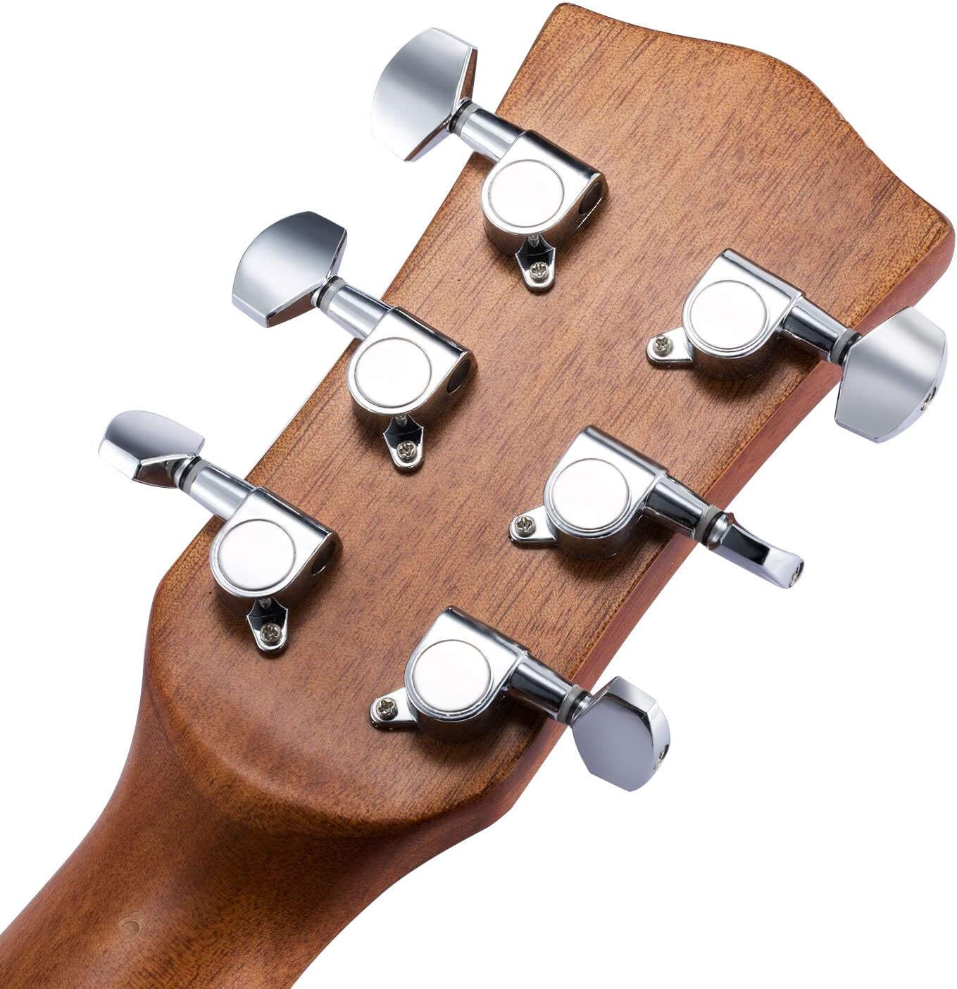 Silver Picks and Guitar String Winder for Electric or Acoustic Guitar Canomo 6 Pieces Sealed Guitar String Tuning Pegs Keys 3 Left 3 Right Guitar Machine Heads Knobs With Strap Button Locks